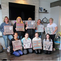Private Party - Dawn MacWaters Wood Sign Painting Party