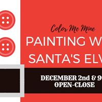 Painting with Santas Elves