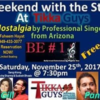Weekend With the Stars at Tikka Guys - BE 1 from Arizona