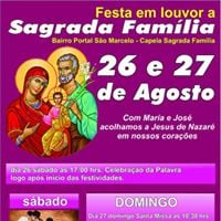 Festa Em Louvor A Sagrada Famlia