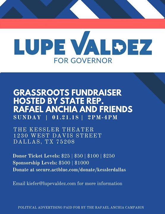 Lupe Valdez Grassroots Fundraiser hosted by Anchia and Friends