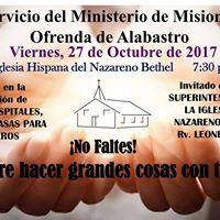 Servicio Ministerio de Misiones Ofrenda de Alabastro