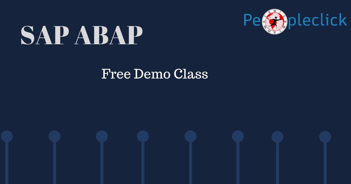 SAP ABAP Free Demo Class