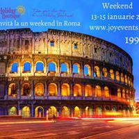 Weekend la Roma 13-15 ianuarie