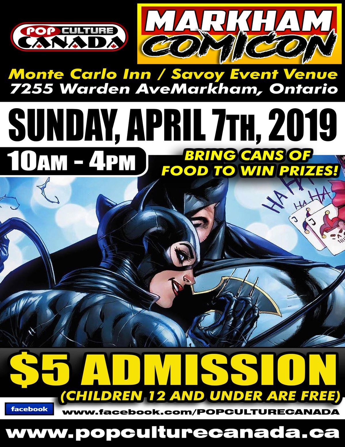 Markham ComiCon     April 7 2019    Comic Con