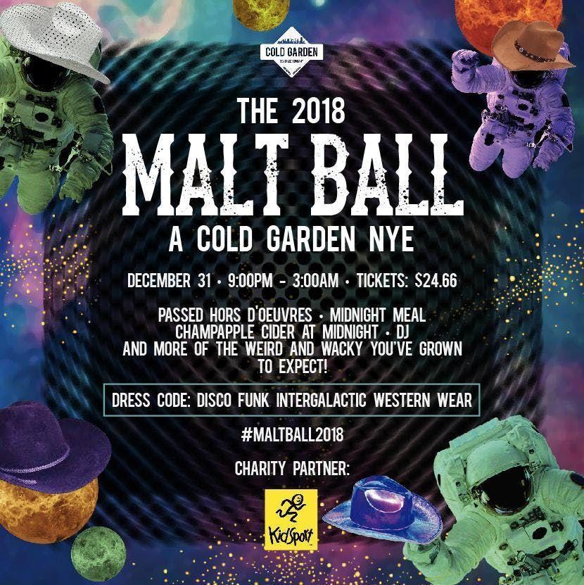 THE MALT BALL 2018 - A COLD GARDEN NYE