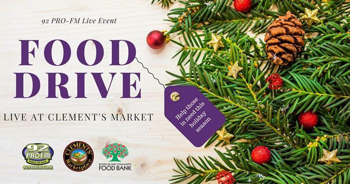 92 PRO FM Clements Marketplace LIVE Food Drive