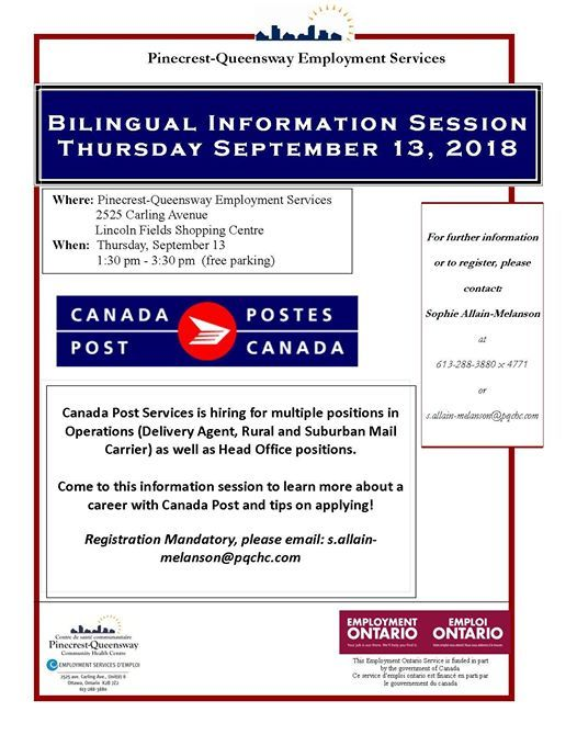 canada post bilingual information session at pinecrest queensway