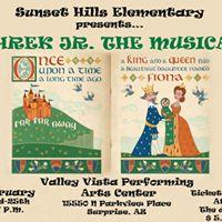 Sunset Hills production of Shrek Jr the musical