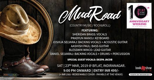 BFLAT 10th Anniversary MUD ROAD (Country music  Rock&Roll)