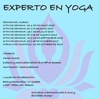 Curso instructor Experto en Yoga