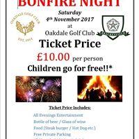 Oakdale Golf Club Bonfire Spectacular