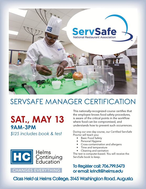 Servsafe Manager Certification At Goodwill Industries Of Middle