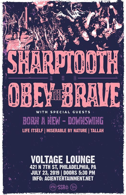 Sharptooth, Obey The Brave, Born A New at Voltage Lounge | Philadelphia