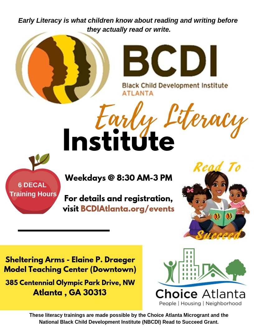 Early Literacy Institute (Tuesday May 28 2019)