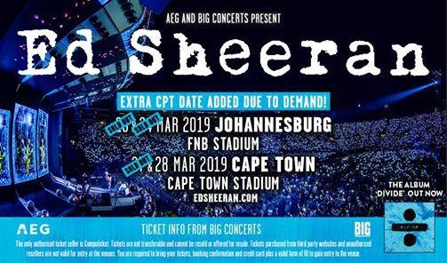Ed Sheeran live in concert