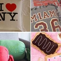 No Sew Pillow Project - Sweet Candy Pillow
