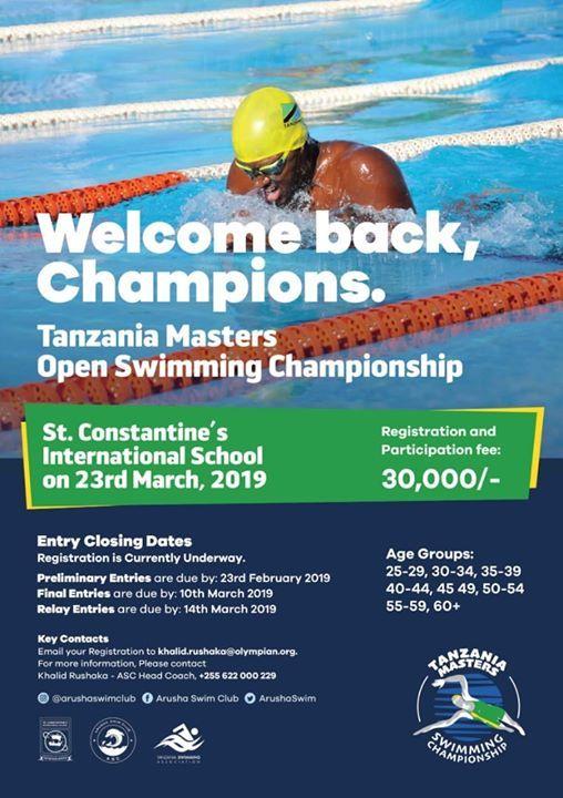 Tanzania Masters Open Swimming Championship