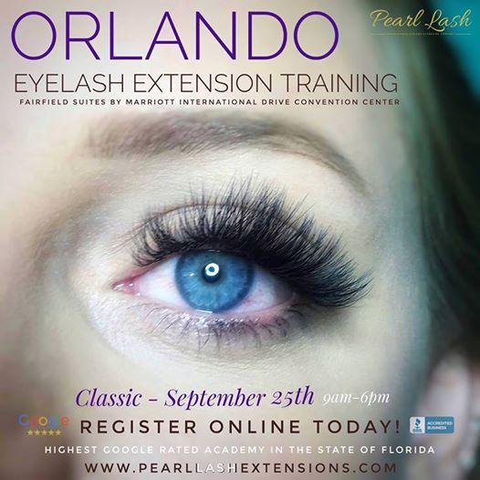 eyelash extension training - orlando september 2018 at orlando, florida