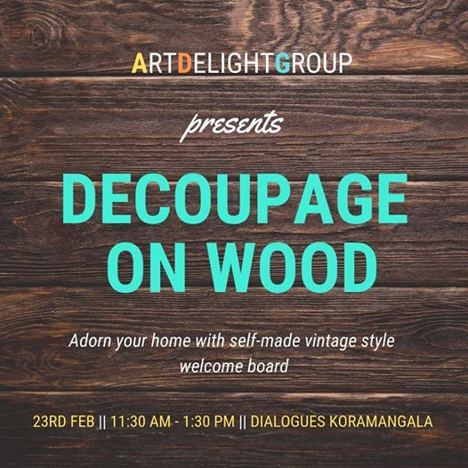 Decoupage on Wood with ArtDelight