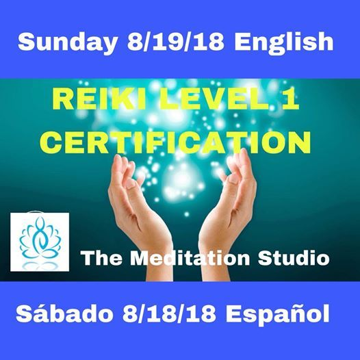 Reiki Level 1 Certification in English at The Meditation Studio, El Paso
