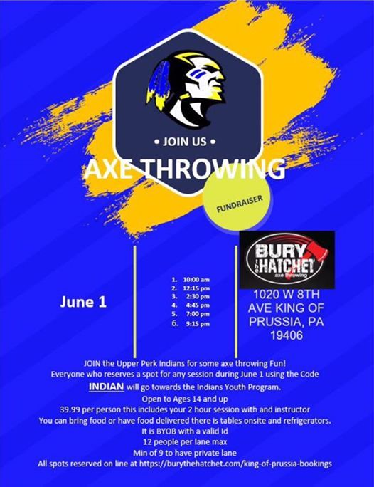 Let's go Axe Throwing! at Bury the Hatchet King of Prussia