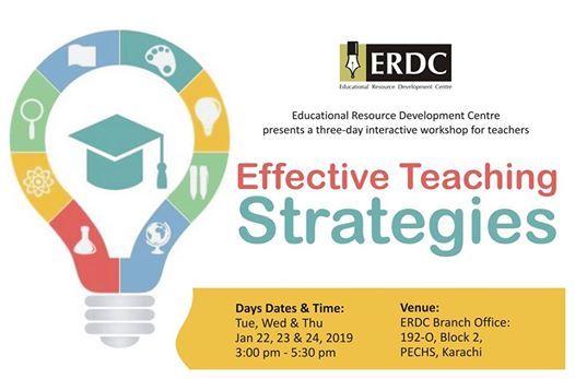 ERDC Workshop Effective Teaching Strategies