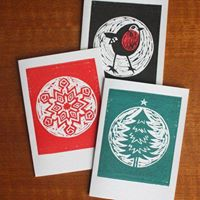 Learn to Block Print Holiday Cards