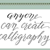 Any One Can Create Calligraphy