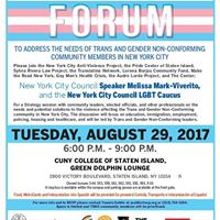 Staten Island Forum To Address The Needs of TGNC NYers