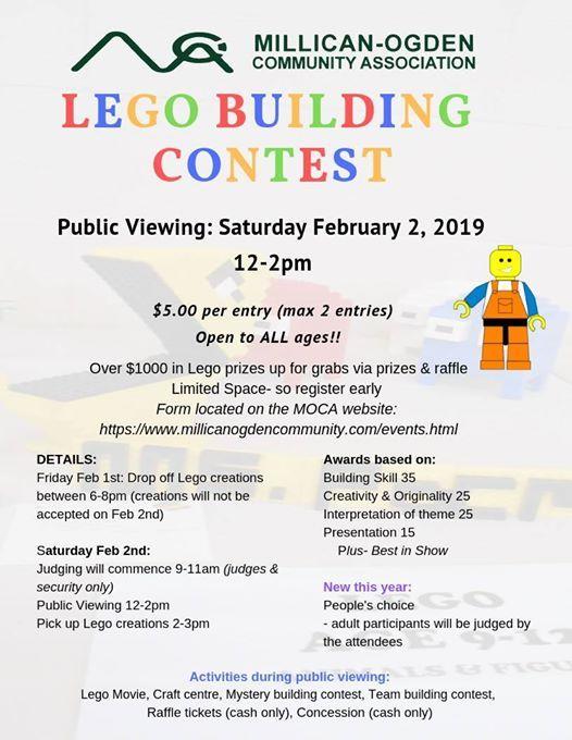 MOCA Lego Contest at Millican Ogden Community Association, Calgary