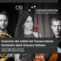 Concerto dei solisti del Conservatorio con lOSI