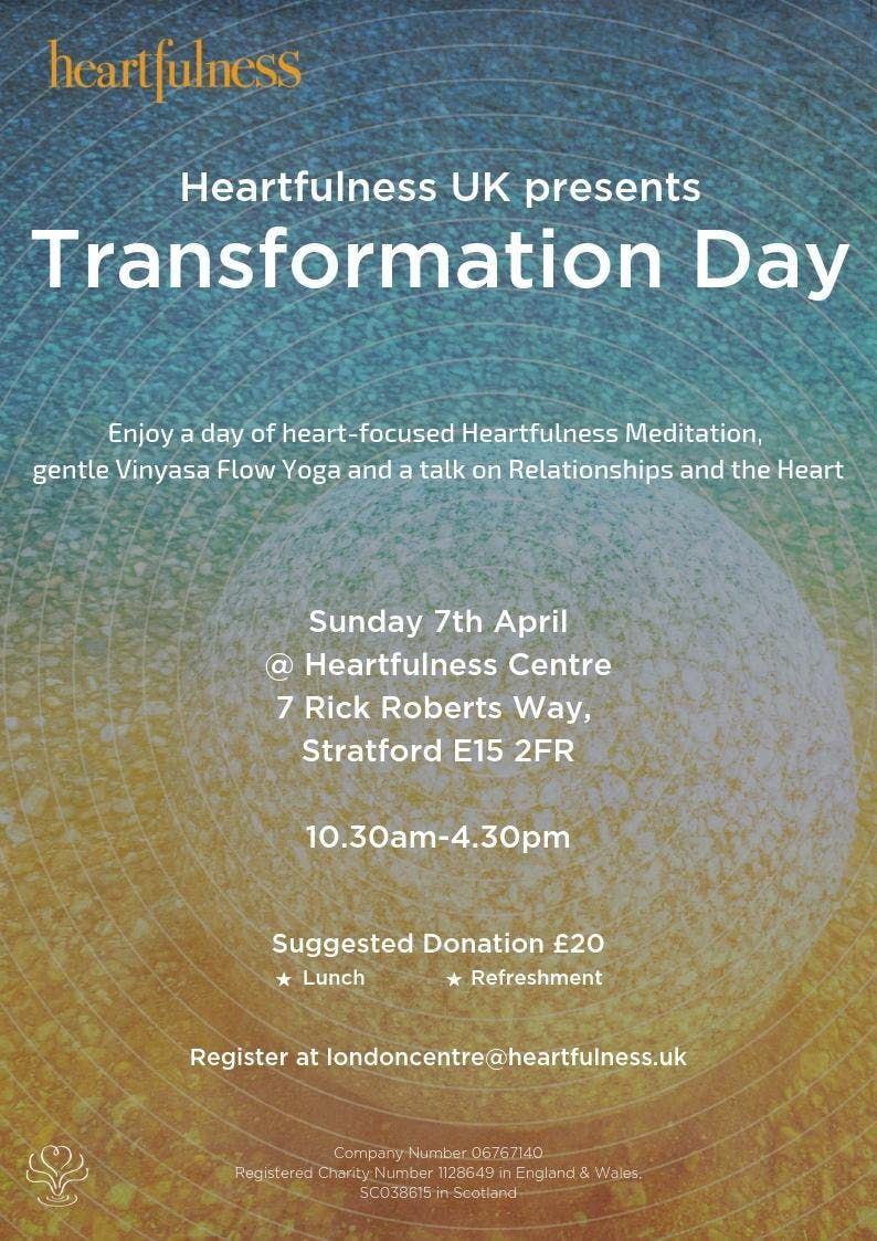 Heartfulness UK Presents Transformation Day