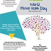 Lets Talk Lets Connect on this &quotWorld Mental Health Day&quot.