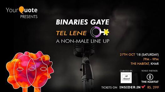 YQs Binaries Gaye Tel Lene (Non-Male) curated by All Aboard