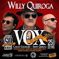 VOX - Willy Quiroga junto a Carlos Gardellini  Simn Quiroga