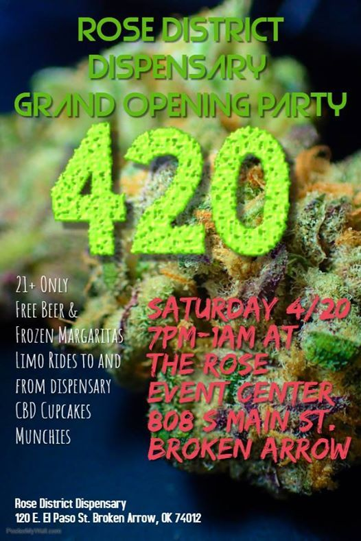 Rose District Dispensary Grand Opening Party at The Rose