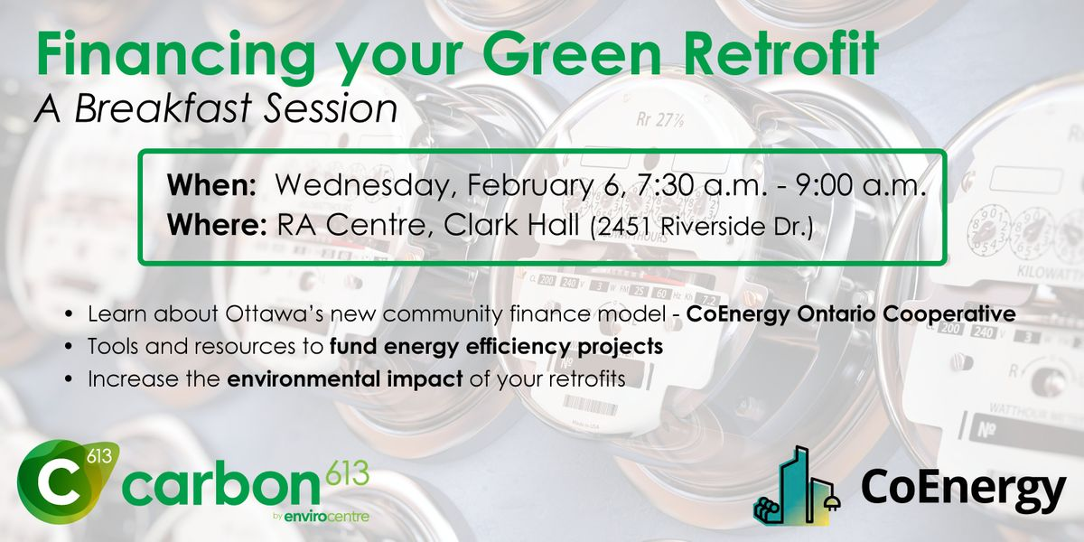Financing your Green Retrofit - A Breakfast Session