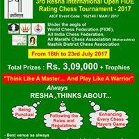 3rd Resha International Open FIDE Rating Chess Tournament
