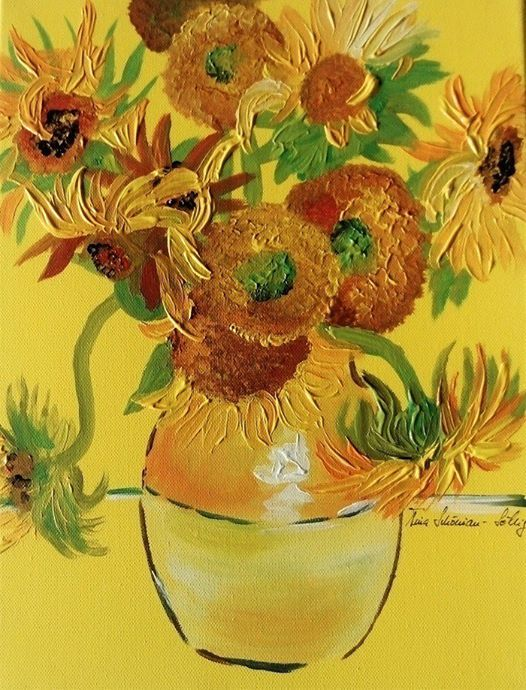 ArtNight ArtNight Pro Paint like Van Gogh  Sonnenblumen am 15