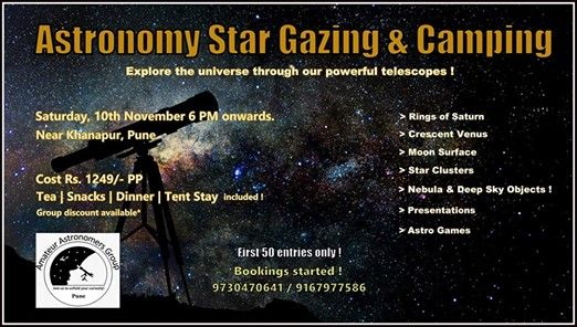 Full House  Astronomy Star Gazing & Camping