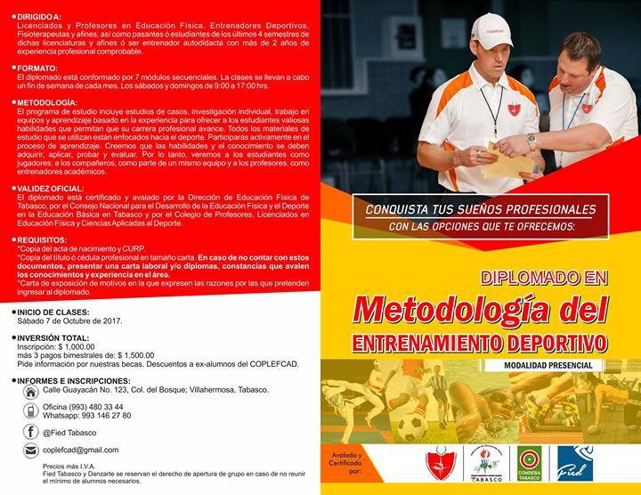 Diplomado Metodología Del Entrenamiento Deportivo At Fied