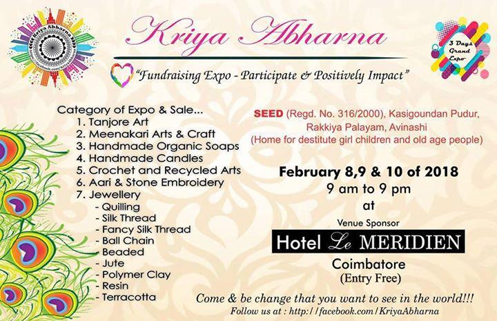 Kriya Abharna Arts Jewellery Handicrafts Expo Sale Entry