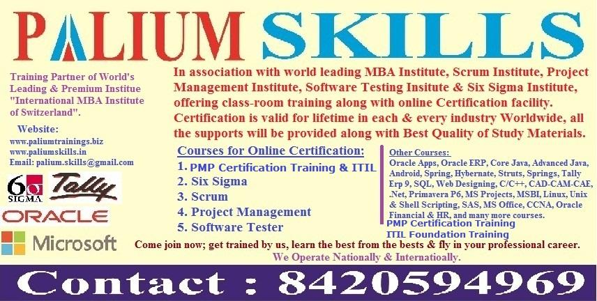 Itil Foundation V3 Certification Training At Palium Skills