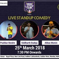 ICC presents Best in Stand Up with Pushkar Siddharth and Abbas.