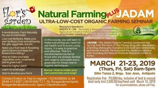 Natural Farming & JADAM Seminar