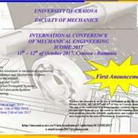 International Conference of Mechanical Engineering ICOME 2017