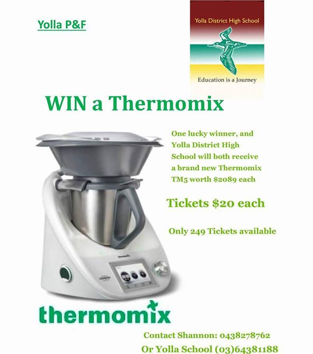 yolla p f thermomix raffle 2016 at yolla school parents and friends yolla. Black Bedroom Furniture Sets. Home Design Ideas