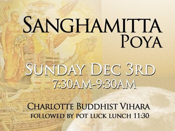 Sanghamitta Poya Full Moon Ceremony
