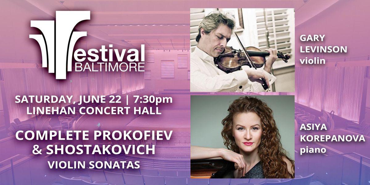FESTIVAL BALTIMORE Concert 5 PROKOFIEV & SHOSTAKOVICH violin sonatas